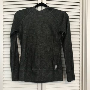 Saucony Charcoal Gray Hooded Pullover, EUC